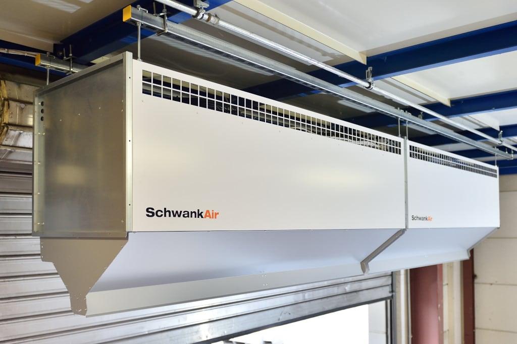 Kurtyna powietrzna firmy Schwank.