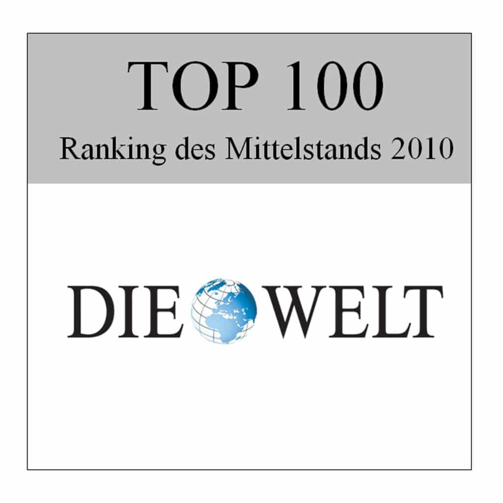 """Nagroda """"Die Welt Top 100"""" dla firmy Schwank GmbH."""