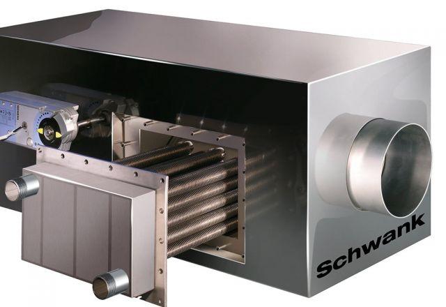 Promienniki rurowe Schwank są połączone z systemem technologii kondensacyjnej hybridSchwank hydro.